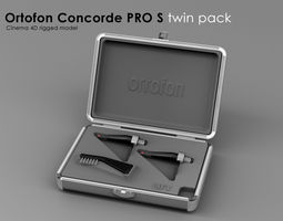 3d asset ortofone concorde pro s twin pack realtime rigged