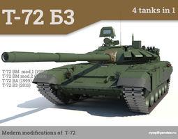 t-72b3 modern russian main battle tank 4 in 1 3d