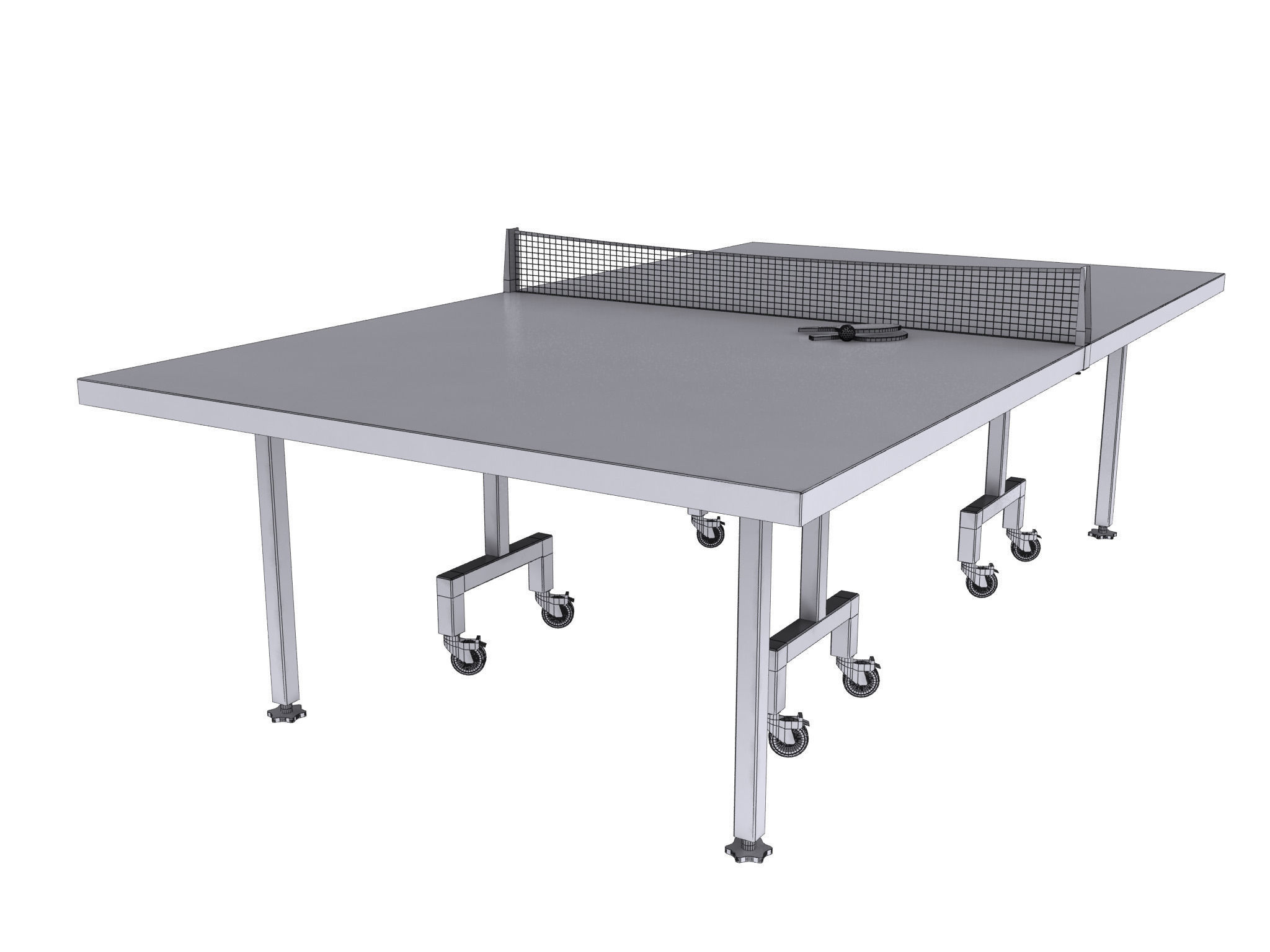 Table Tennis Or Ping Pong 3d Model Max Obj 3ds Fbx Mtl Mat 7