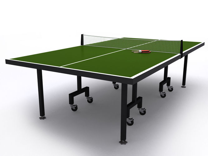 Table tennis or ping pong table 3d sports cgtrader - Equipment for table tennis ...