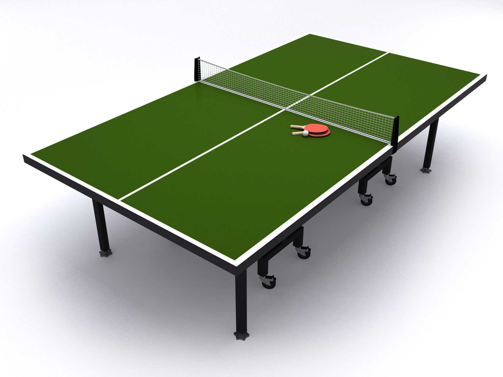 ... Table Tennis Or Ping Pong Table 3d Model Max Obj 3ds Fbx Mtl Mat 2 ...