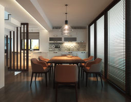 cookware 3D model Dining Room