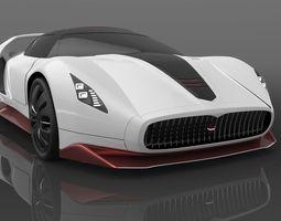 Maserati concept hypercar 3D