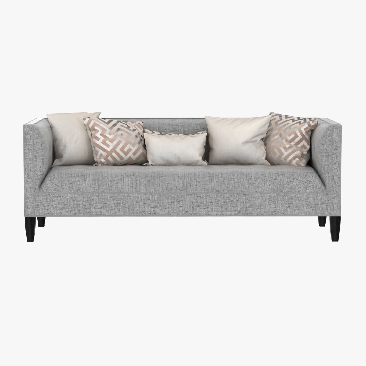 Mitchell Gold Bob Williams Kennedy Sofa 3d Model Max Obj 3ds Fbx Mtl ...