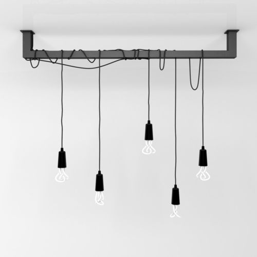 Hanging Ceiling Light 3d Autocad Model: Cable Bar Pendant Light With Original Plumen 001-light