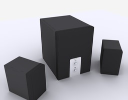 speaker 3D model Speaker
