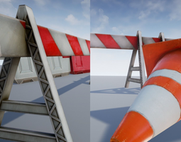 road objects - traffic - low poly VR / AR ready 3d asset