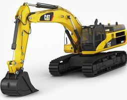 VR / AR ready 3d model excavator cat 345 dl