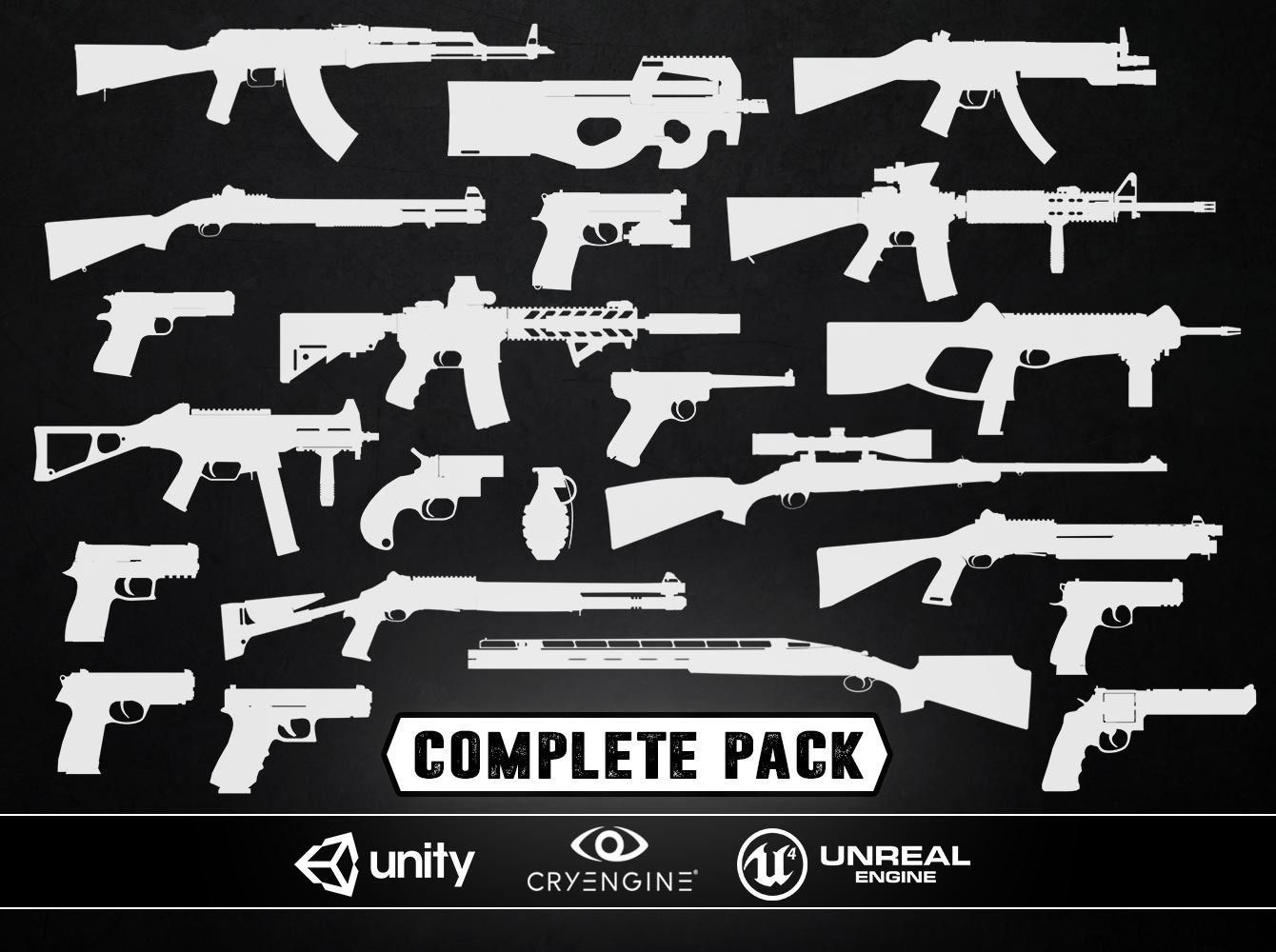 COMPLETE WEAPONS PACK - Models and Textures