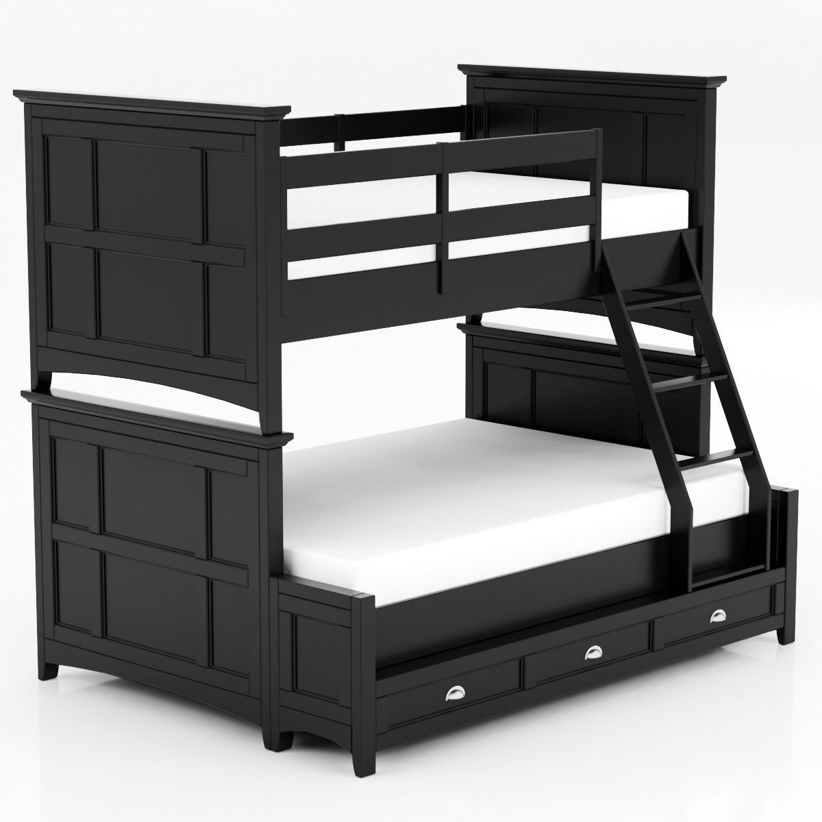 Magnussen Home Bennett Black Bunk Bed 3d Cgtrader
