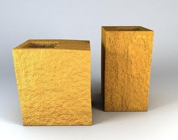 3D Box vases