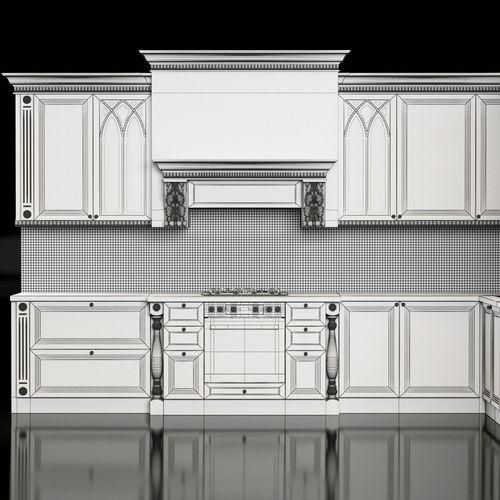Classic Kitchen 3D Model MAX