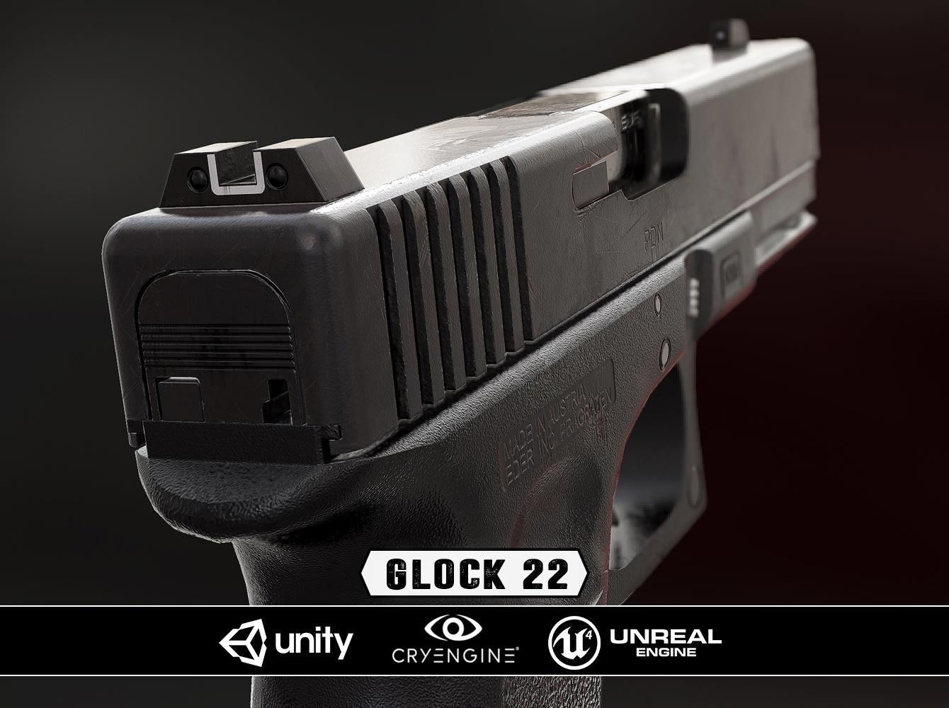 Glock 22 - Model and Textures | 3D model