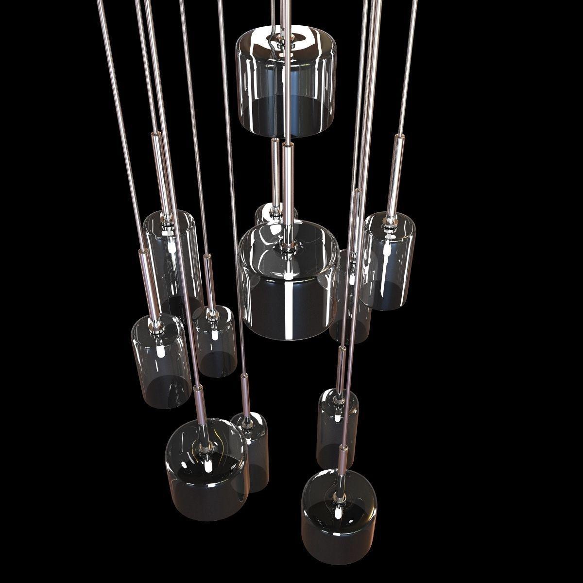 Ozcan 12 lamp pendant chandelier 3D Model MAX OBJ 3DS FBX MTL – Pendant Chandelier