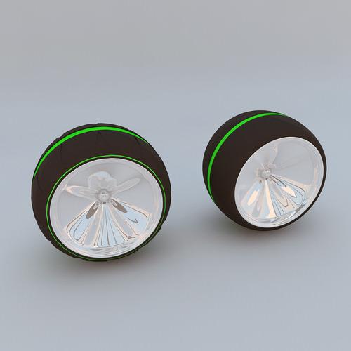 Futuristic Wheel Concept MAX 20113D model