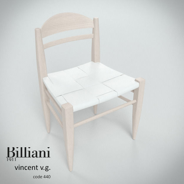 Billiani Vincent VG side chair white