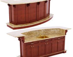 Model Kitchen kitchen island cabinet 3d   cgtrader