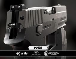 3d asset realtime p250  - model and textures