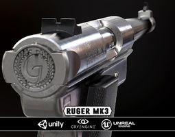Ruger Mk3 - Model and Textures 3D asset