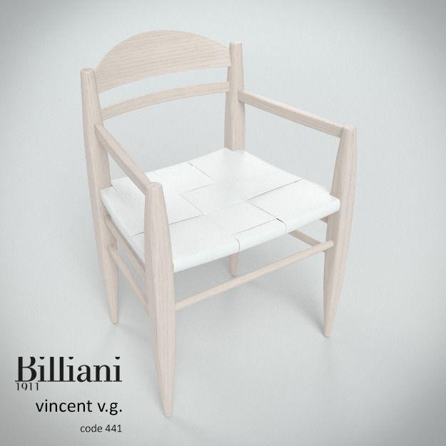 Billiani Vincent VG armchair white
