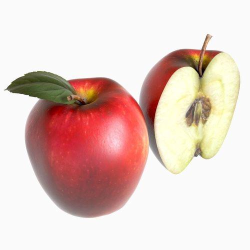 red apple 3d model max obj fbx mtl unitypackage 1