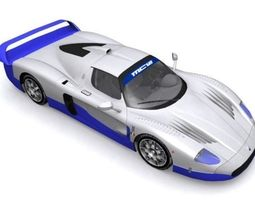 VR / AR ready maserati mc-12 3d model
