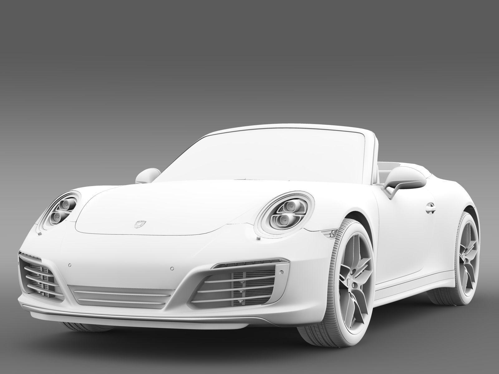 porsche 911 carrera s cabriolet 991 2016 3d model max obj 3ds fbx c4d lwo lw lws. Black Bedroom Furniture Sets. Home Design Ideas
