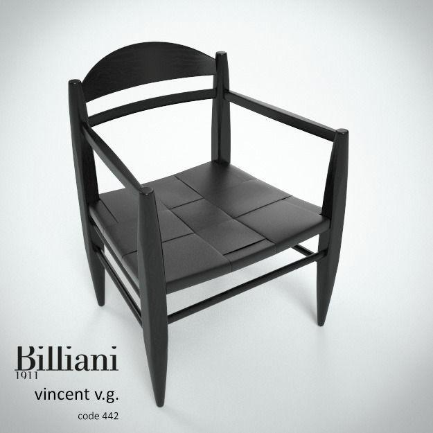 Billiani Vincent VG lounge chair black