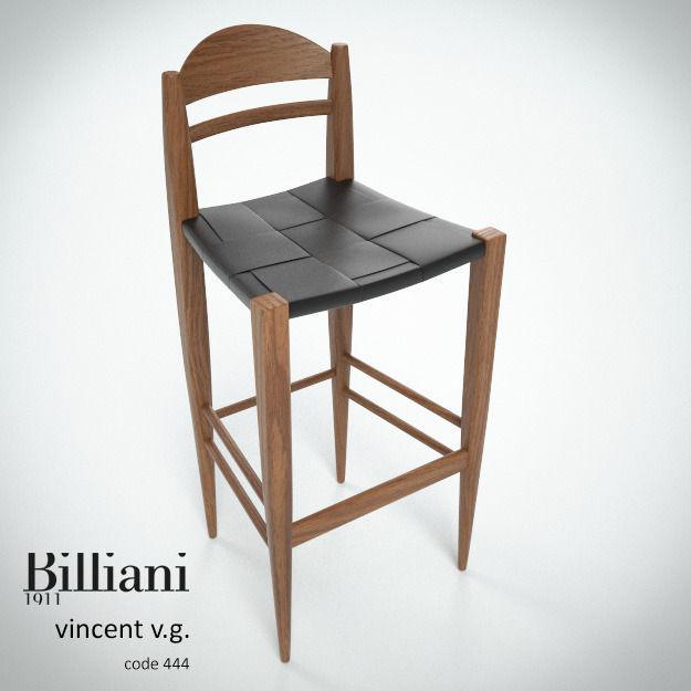 Billiani Vincent VG stool 444 teak