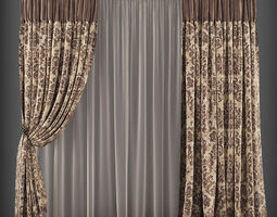 game-ready Curtain 3D model 147