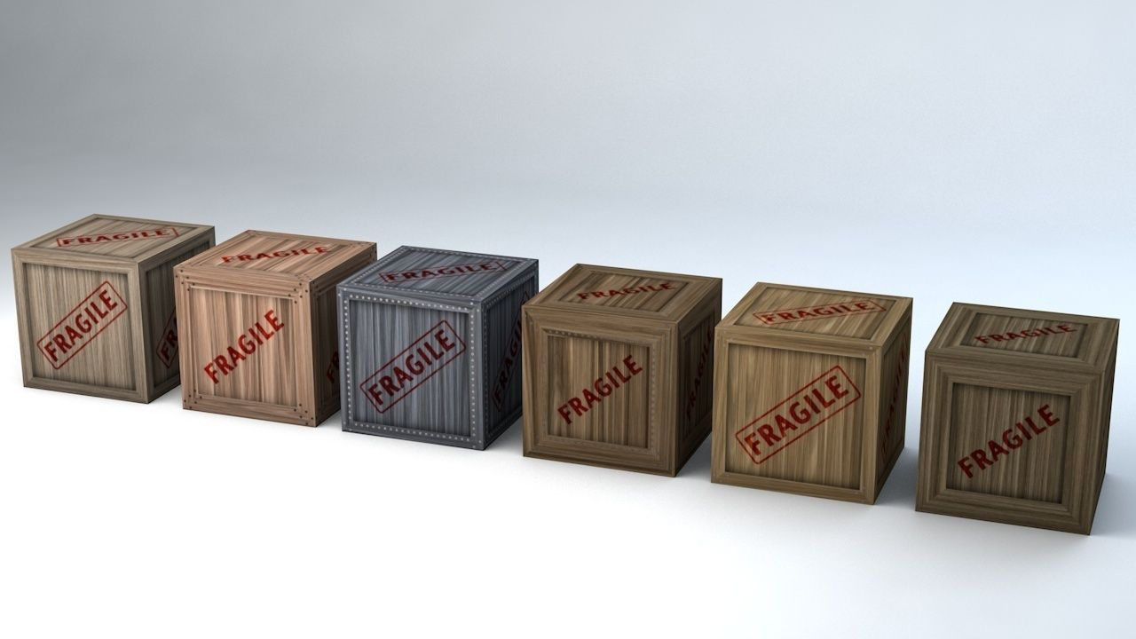 Fragile Wooden Crates Pack