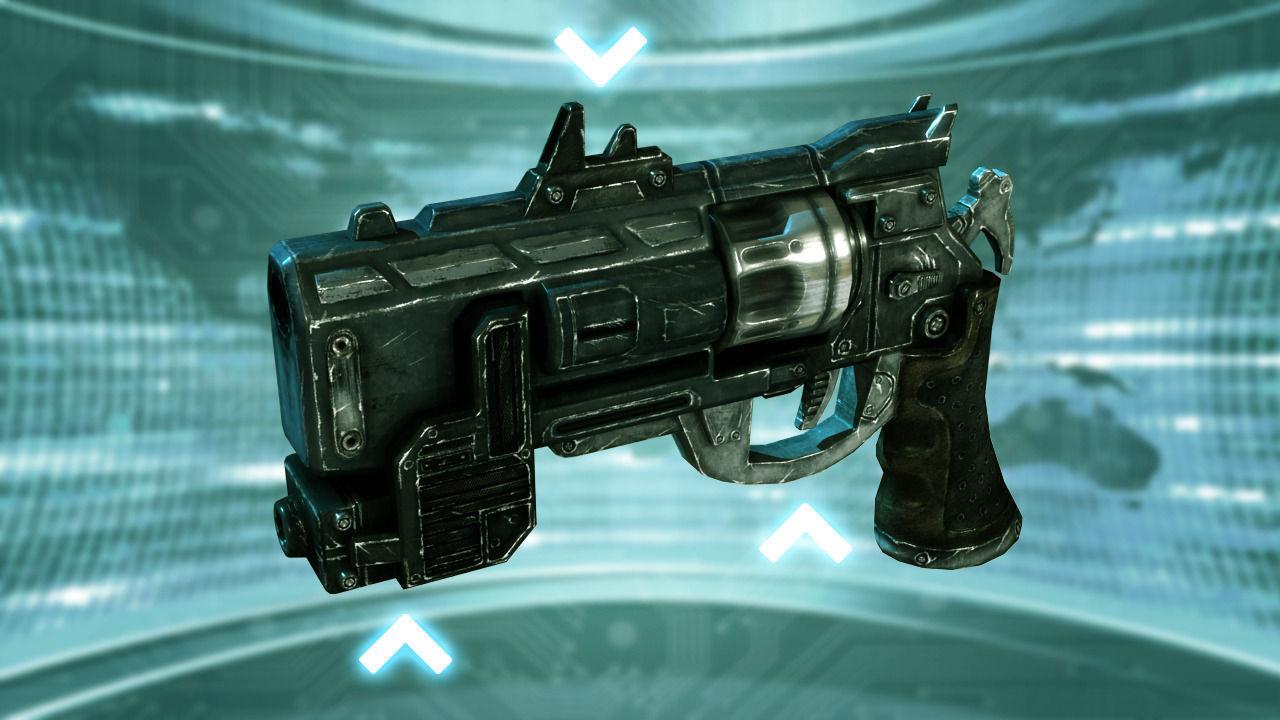 3D model Futuristic Revolver VR / AR / low-poly FBX TGA ...
