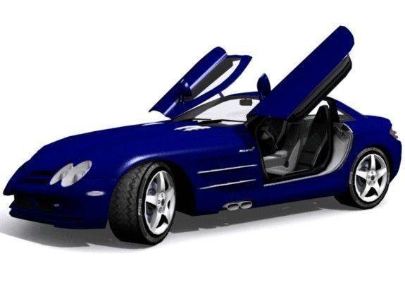 mercedes-benz slr mclaren 3d model low-poly max tga 1