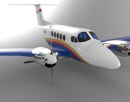 Beechcraft King Air B200 GT 3D