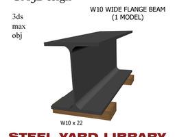 3D model W10 Wide Flange Beam
