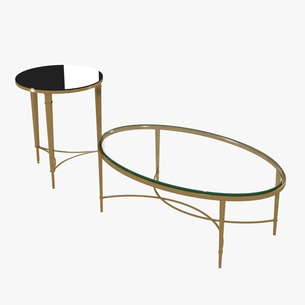 Chloe Coffee Table By Baker And Round French Table By Global Vie 3d Model  Max Obj ...