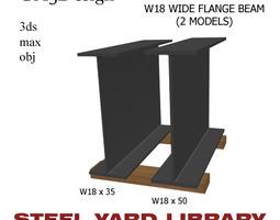 W18 Wide Flange Beam 3D