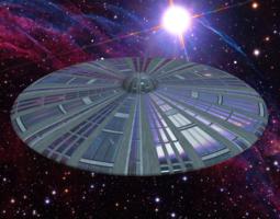 Classic UFO 3D Model