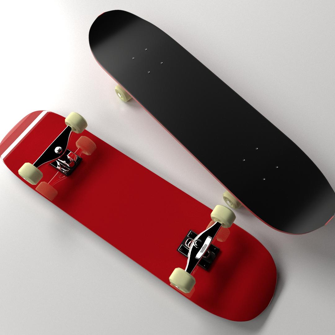 Skateboard 3d model 3ds fbx blend dae - Skateboard mobel ...