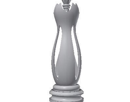 chess queen 3d printable model