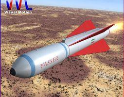 yasser missile 3d model low-poly