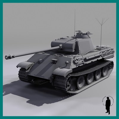 PANZER V (PANTHER) TANK 3D Model .max