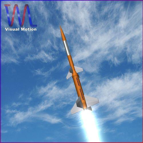 gamma centauro rocket 3d model low-poly obj 3ds fbx dxf blend dae 1