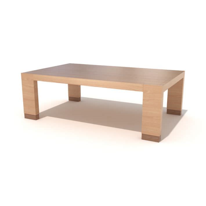 Modern wooden coffee table 3d model for Coffee table 3d model