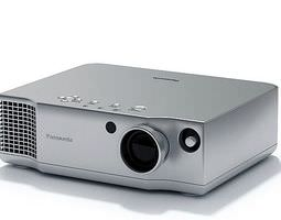 Silver Panasonic Projector 3D Model