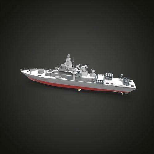 Corvette Anti submarine 3d printed