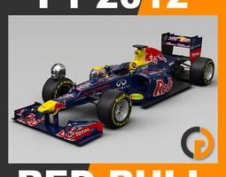 F1 2012 Red Bull RB8 - Red Bull Racing 3D Model