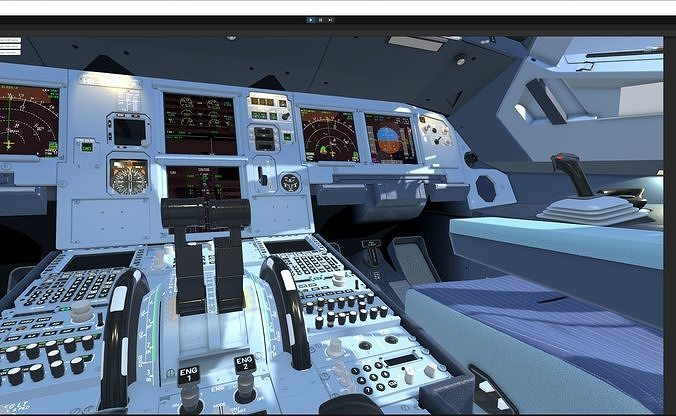 Unity 3D fully functional Airbus A320 Cockpit