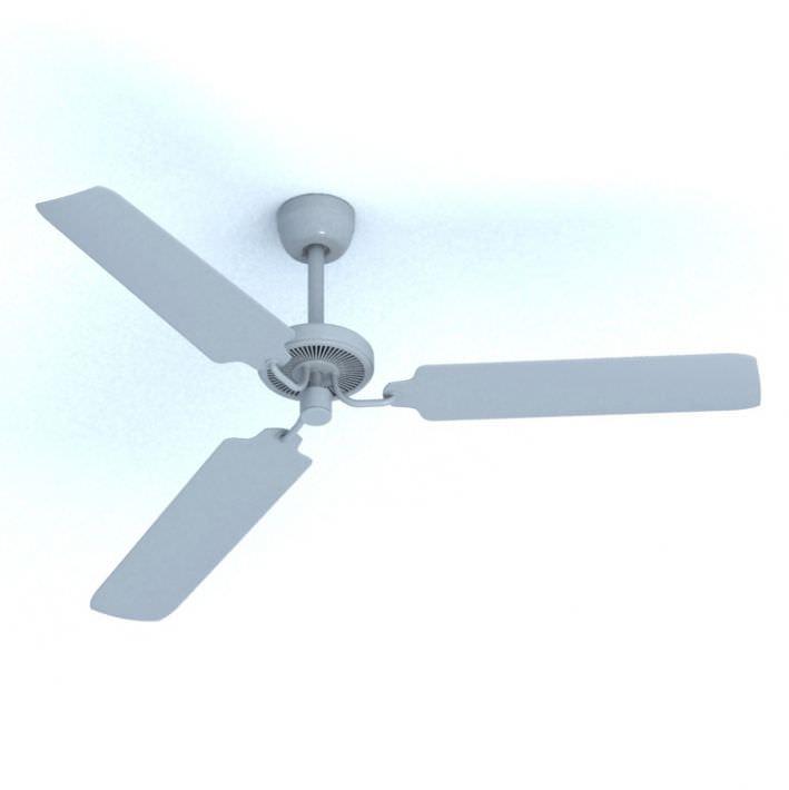 modern ceiling fan 3d model obj 1