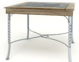 Wooden Classic Table 3D